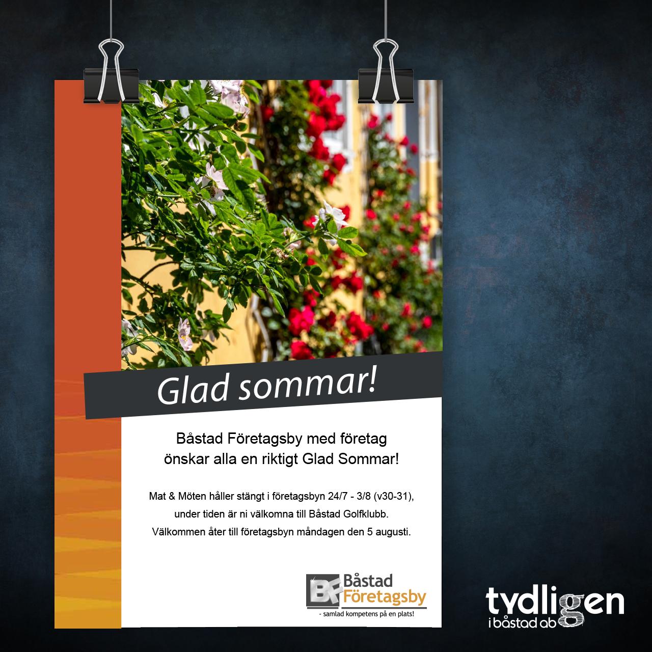 Poster Glad sommar